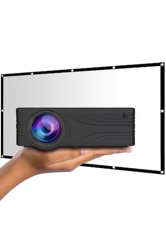LA VAGUE LED-Beamer »LV-HD200 inkl. LV-STA100FP«, ( 1000:1 ), schwarz, unterstützt Full HD kaufen