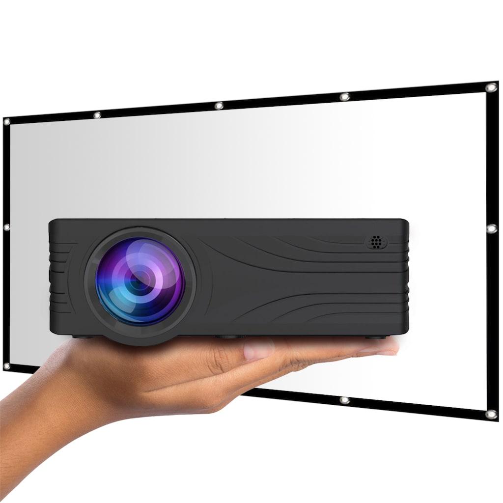LA VAGUE LED-Beamer »LV-HD200 inkl. LV-STA100FP«, (1000:1), schwarz, unterstützt Full HD