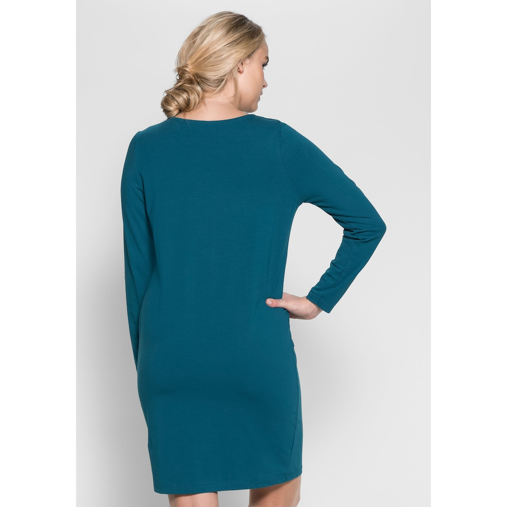 Sheego Shirtkleid, in besonders trageangenehmer Qualität