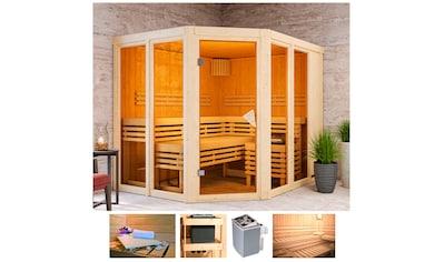 KARIBU Sauna »Aaina 3«, 231x196x198 cm, 9 kW Ofen mit int. Steuerung kaufen