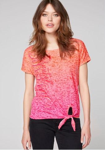 SOCCX T-Shirt, mit vertikalem Schriftzug und Pailletten vorne kaufen