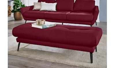 W.SCHILLIG Hocker »softy«, mit dekorativer Heftung im Sitz, Füße schwarz... kaufen