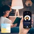 Hama Smarte Lampe »Glitzereffekt, quadrat., 27 cm«, gesteuert via Alexa/Google/App