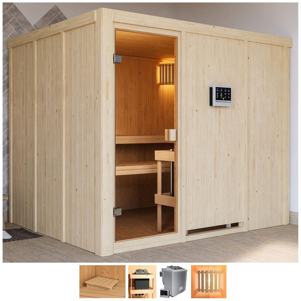 Karibu Sauna »Nando«, 9-kW-Bio-Ofen mit ext. Steuerung