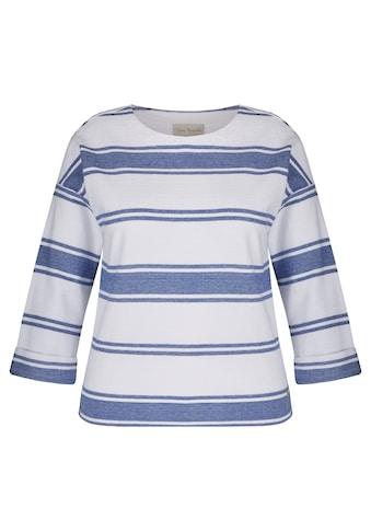 VIA APPIA Maritimes Sweatshirt mit Ringel - Muster kaufen