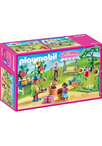 "Playmobil® Konstruktions - Spielset ""Kindergeburtstag mit Clown (70212), Dollhouse"", Kunststoff, (103 - tlg.) kaufen"