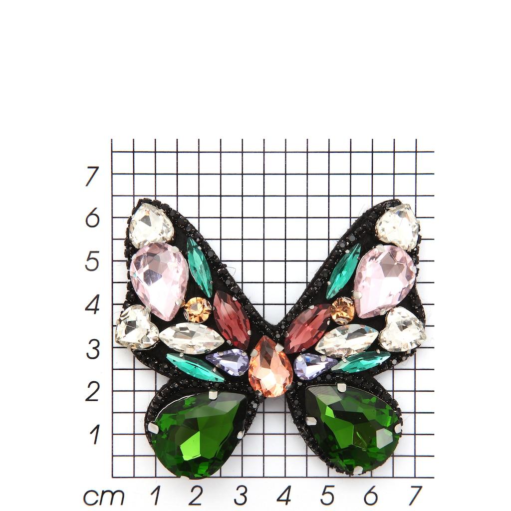 J.Jayz Brosche »Schmetterling mit Anstecknadel, bunt«, mit Glassteinen