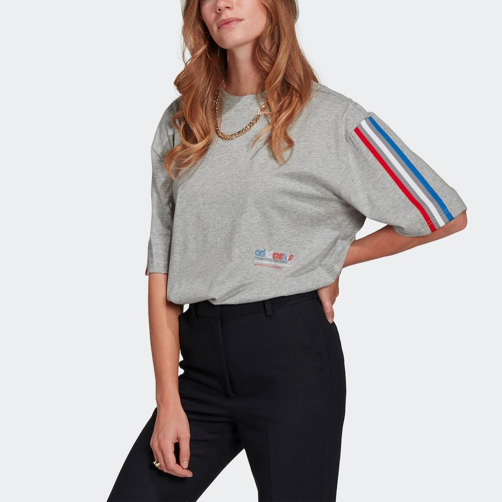 adidas Originals T-Shirt »ADICOLOR TRICOLOR OVERSIZE«