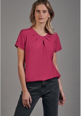 seidensticker Shirtbluse »Schwarze Rose«, Kurzarm Rundhals Uni kaufen