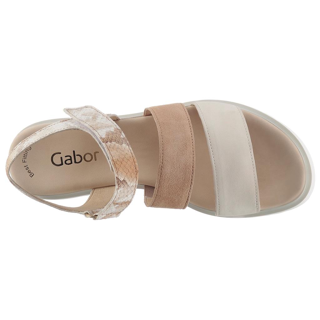 Gabor Sandalette, mit Reptilienprägung