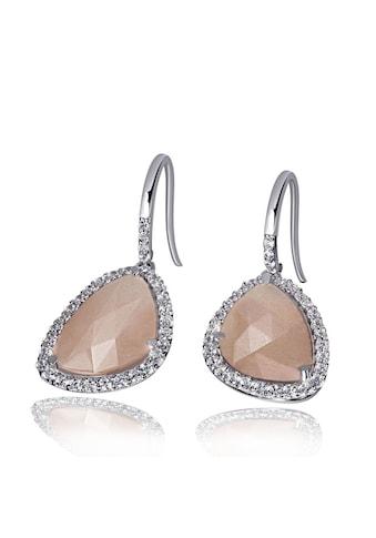 goldmaid Paar Ohrhänger, 925/- Silber 2 Mondstein 64 Zirkonia kaufen
