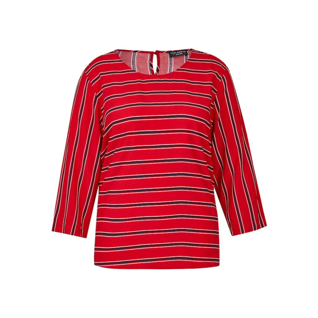 VIA APPIA DUE Luftige Bluse mit Streifen-Muster Plus Size