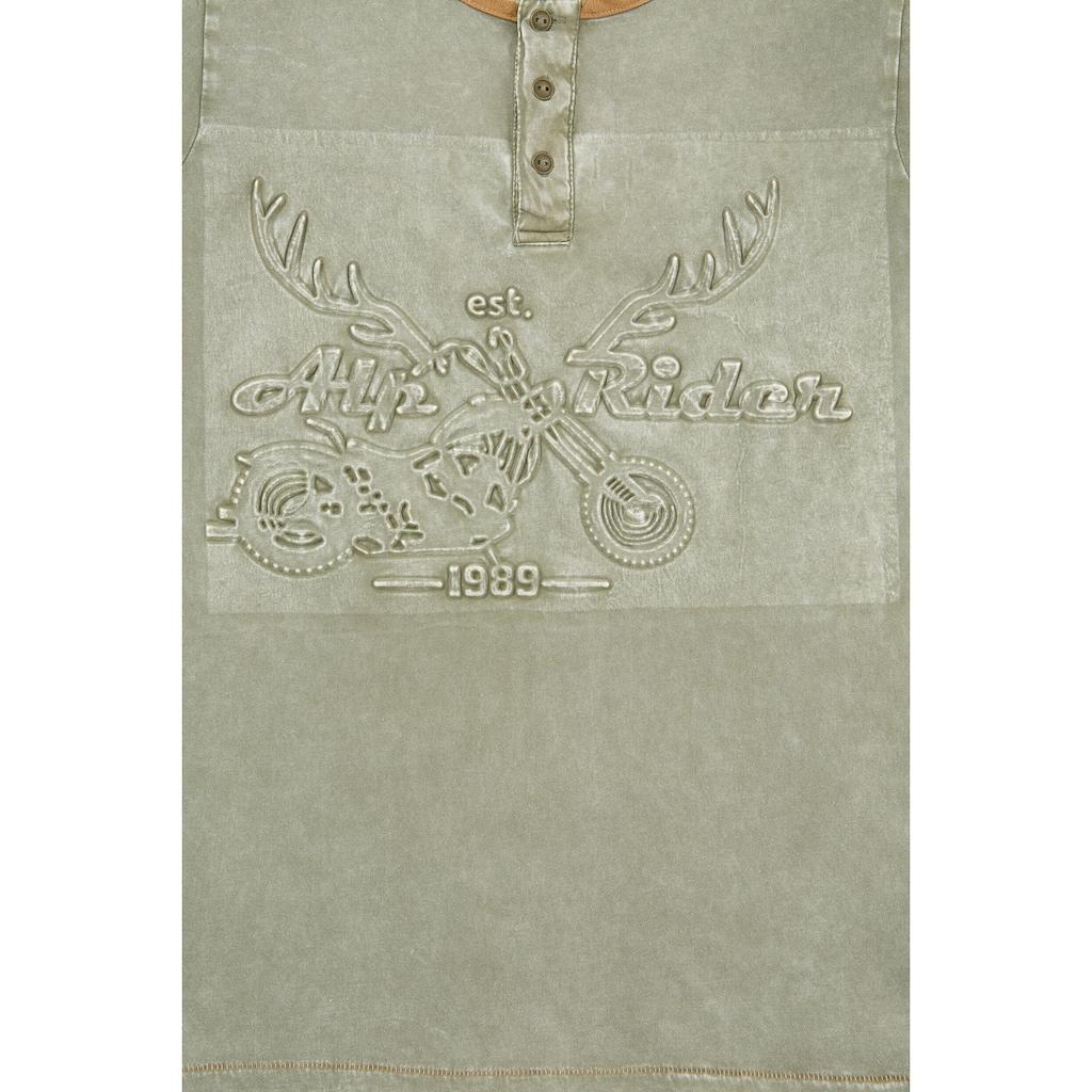 MarJo Trachtenshirt, mit Prägedruck