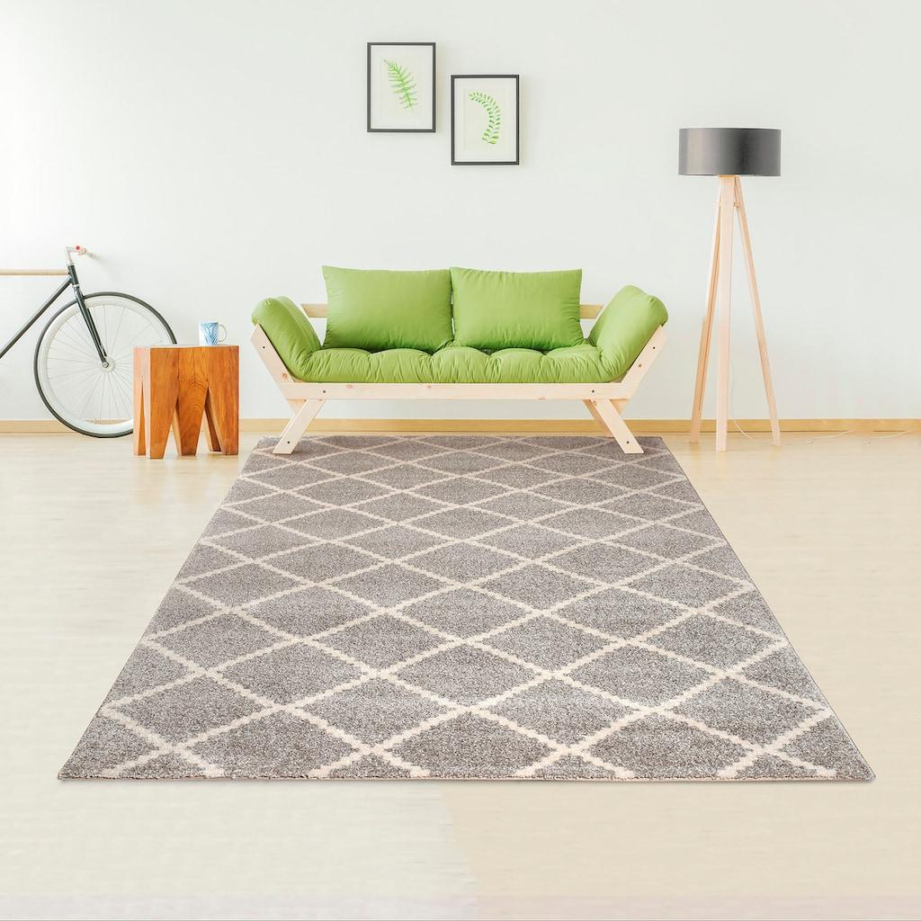andas Teppich »Arvid«, rechteckig, 14 mm Höhe, modernes Design, Wohnzimmer
