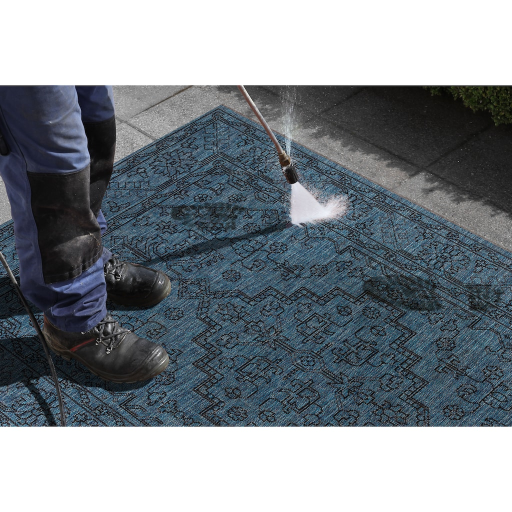 bougari Teppich »Tyros«, rechteckig, 4 mm Höhe, In- und Outdoor geeignet, Flachgewebe, Wohnzimmer