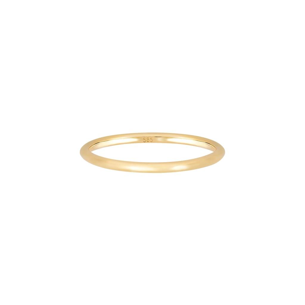 Elli Fingerring »Bandring Ehering Trauring Hochzeit 585er Gelbgold«