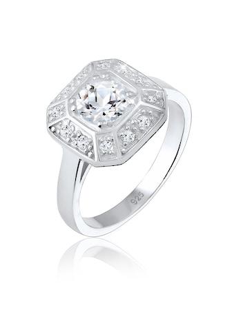 Elli Fingerring »Verlobungsring Glamour Funkelnd Topas 925 Silber« kaufen