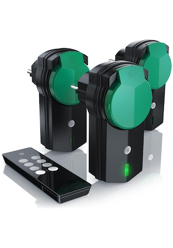BEARWARE Außenbereich Funksteckdosen Set mit Fernbedienung kaufen