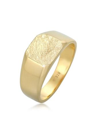 Kuzzoi Siegelring »Basic Siegelring Herren Quadrat Matt 925 Silber« kaufen