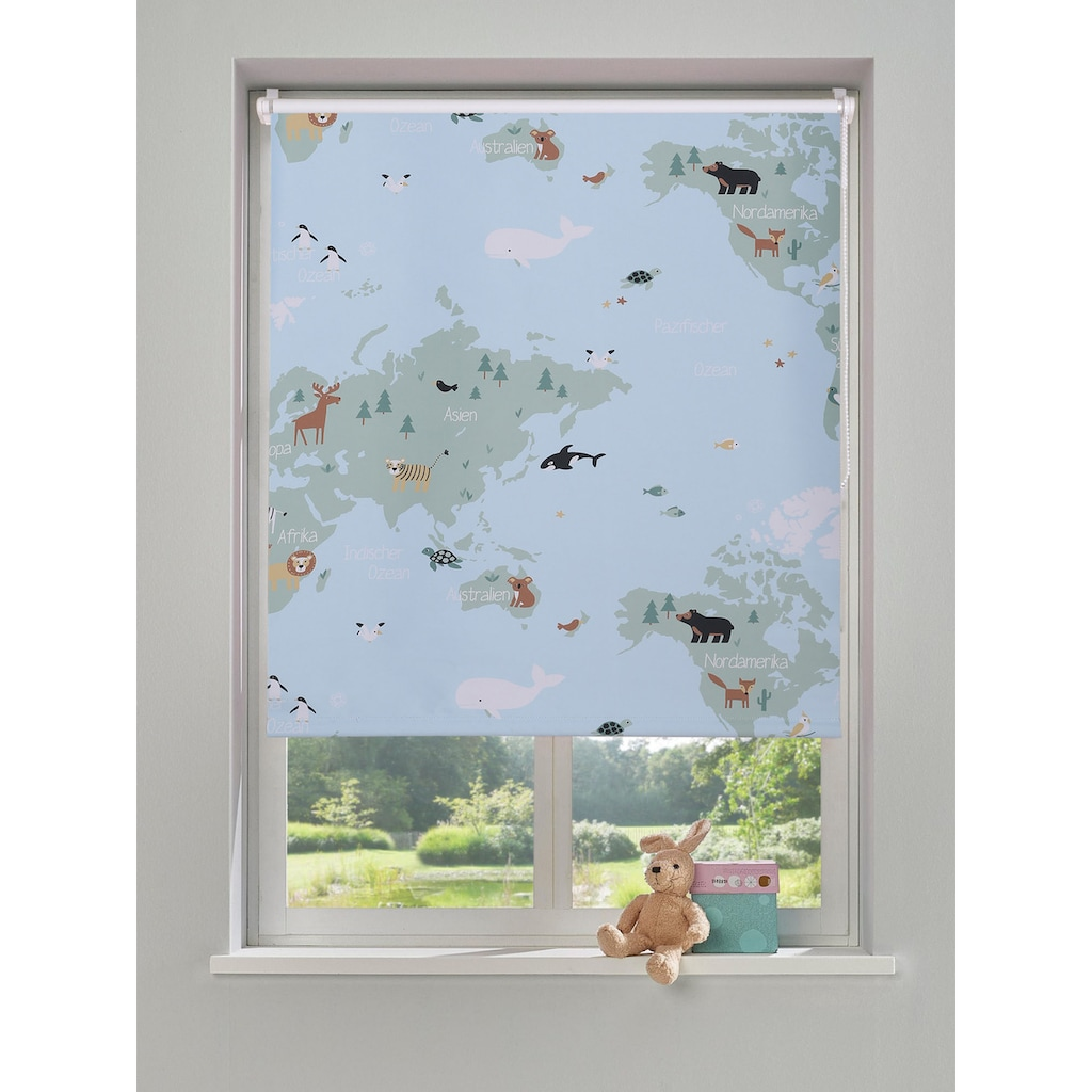 Lüttenhütt Rollo »Weltkarte«, verdunkelnd