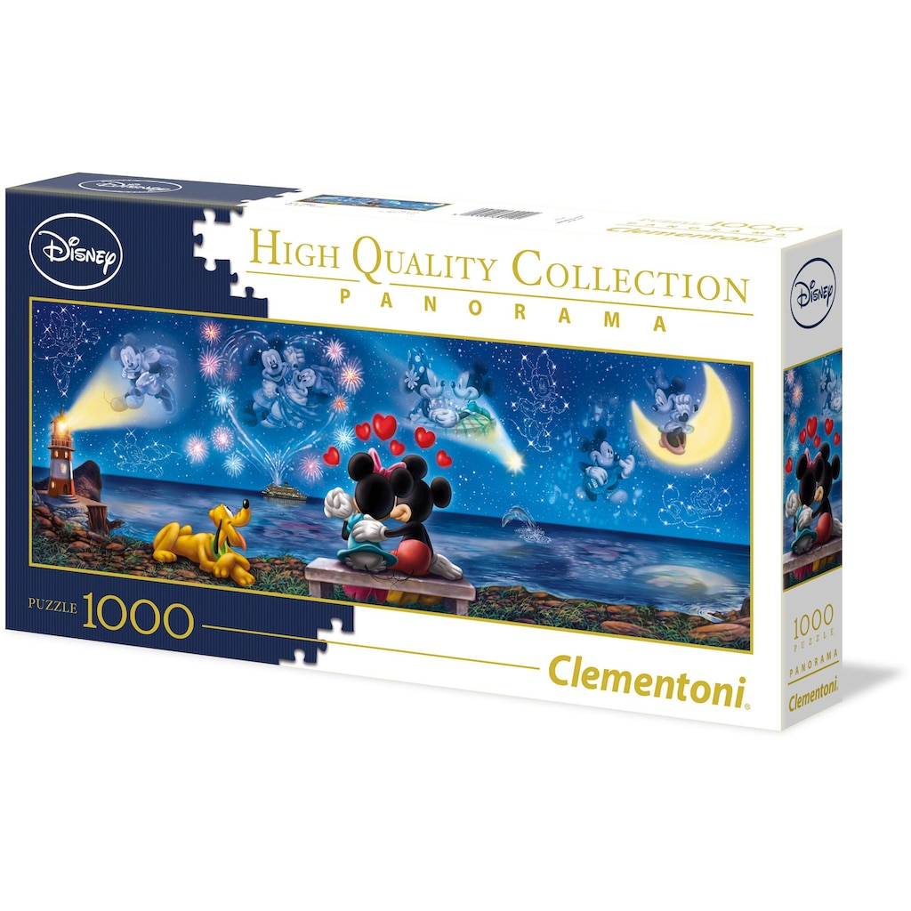 Clementoni® Puzzle »Panorama High Quality Collection - Disney Mickey und Minnie«, Made in Europe