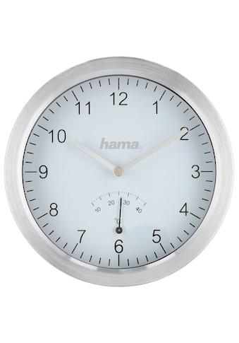 Hama Badezimmeruhr mit Saugnäpfen und Aluminiumrahmen, Silber kaufen