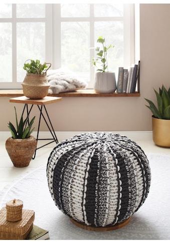 Home affaire Pouf »Zebra«, mit einem schönen Webstoffbezug, Untergestellplatte aus... kaufen
