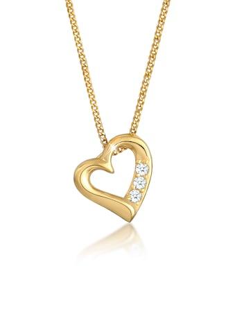 Diamore Collierkettchen »Herz Liebe Diamant (0.045 ct.) 585 Gelbgold« kaufen