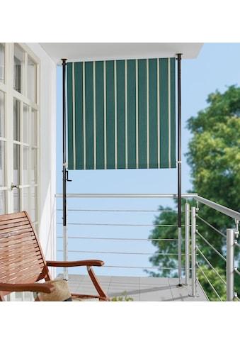 ANGERER FREIZEITMÖBEL Klemm - Senkrechtmarkise grün/weiß, BxH: 120x225 cm kaufen