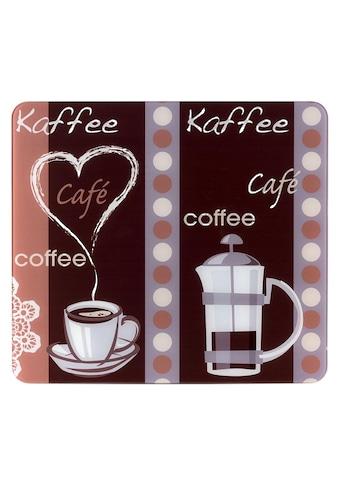 WENKO Schneide- und Abdeckplatte »Kaffeeduft«, (1 tlg.), mobile Arbeitsfläche nutzbar kaufen