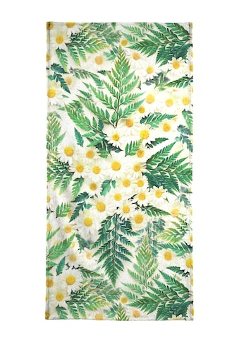 Juniqe Handtuch »Textured Vintage Daisy And Fern«, (1 St.), Weiche... kaufen