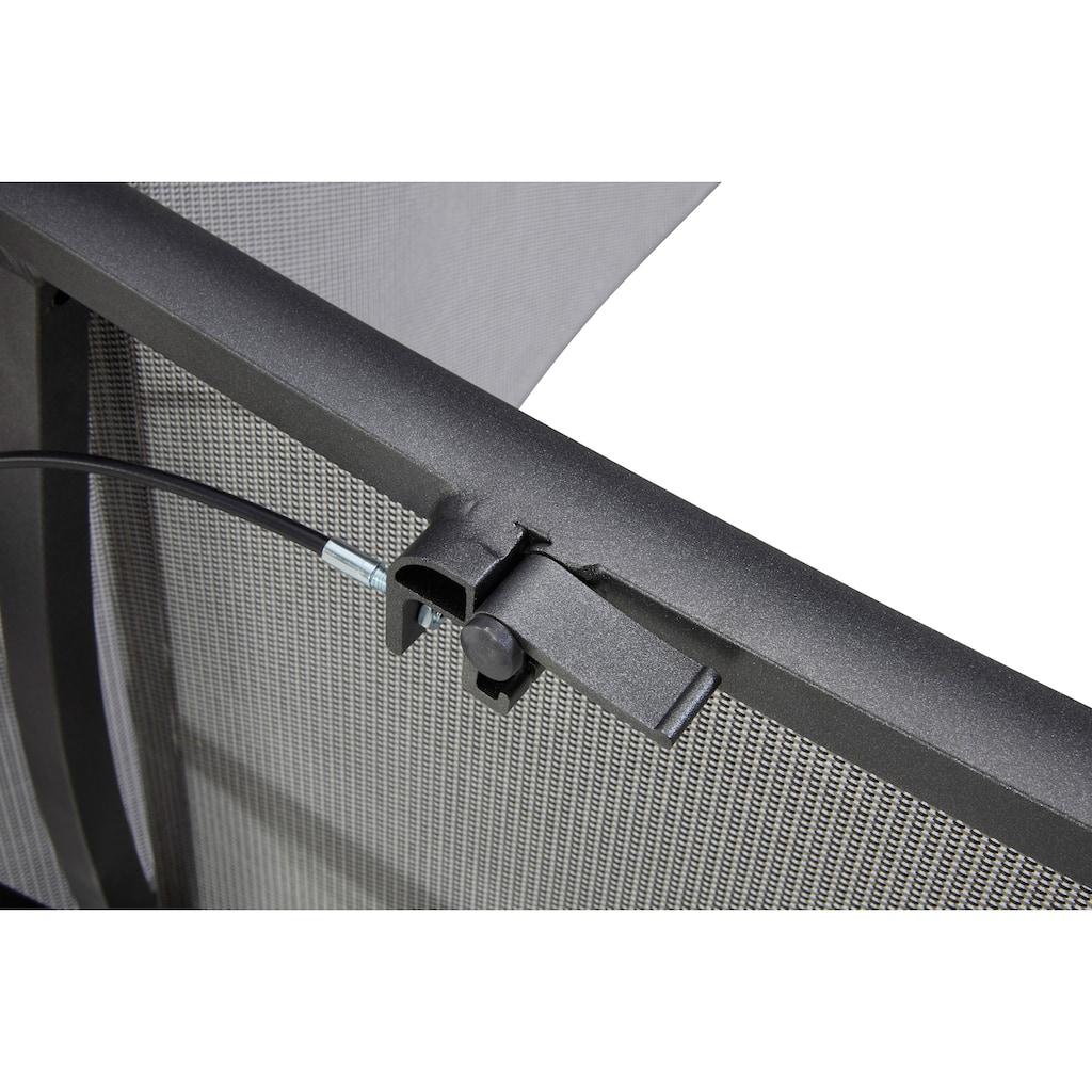 MERXX Gartenstuhl »San Remo«, 2er Set, Alu/Textil, verstellbar, silber