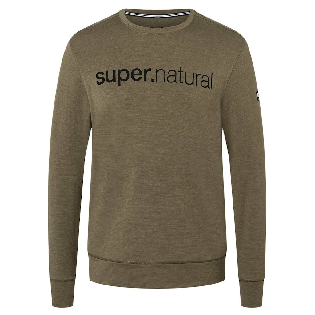 SUPER.NATURAL Sweatshirt »M SIGNATURE CREW«, pflegeleichter Merino-Materialmix