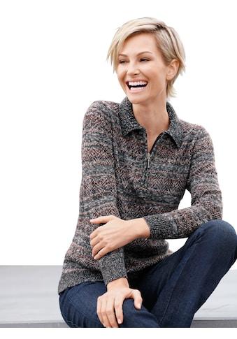Casual Looks Pullover mit Streifen -  und Ajourmuster kaufen