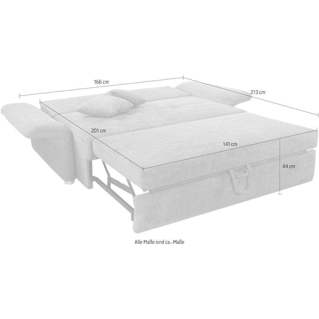 Jockenhöfer Gruppe Schlafsofa »Luca«, inklusive Bettfunktion und Armlehnenverstellung, in 2 Breiten