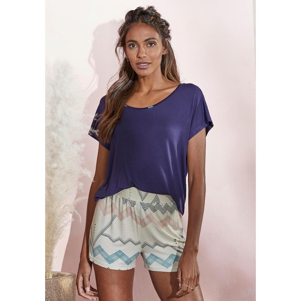 LASCANA T-Shirt, mit angeschnittenem Arm