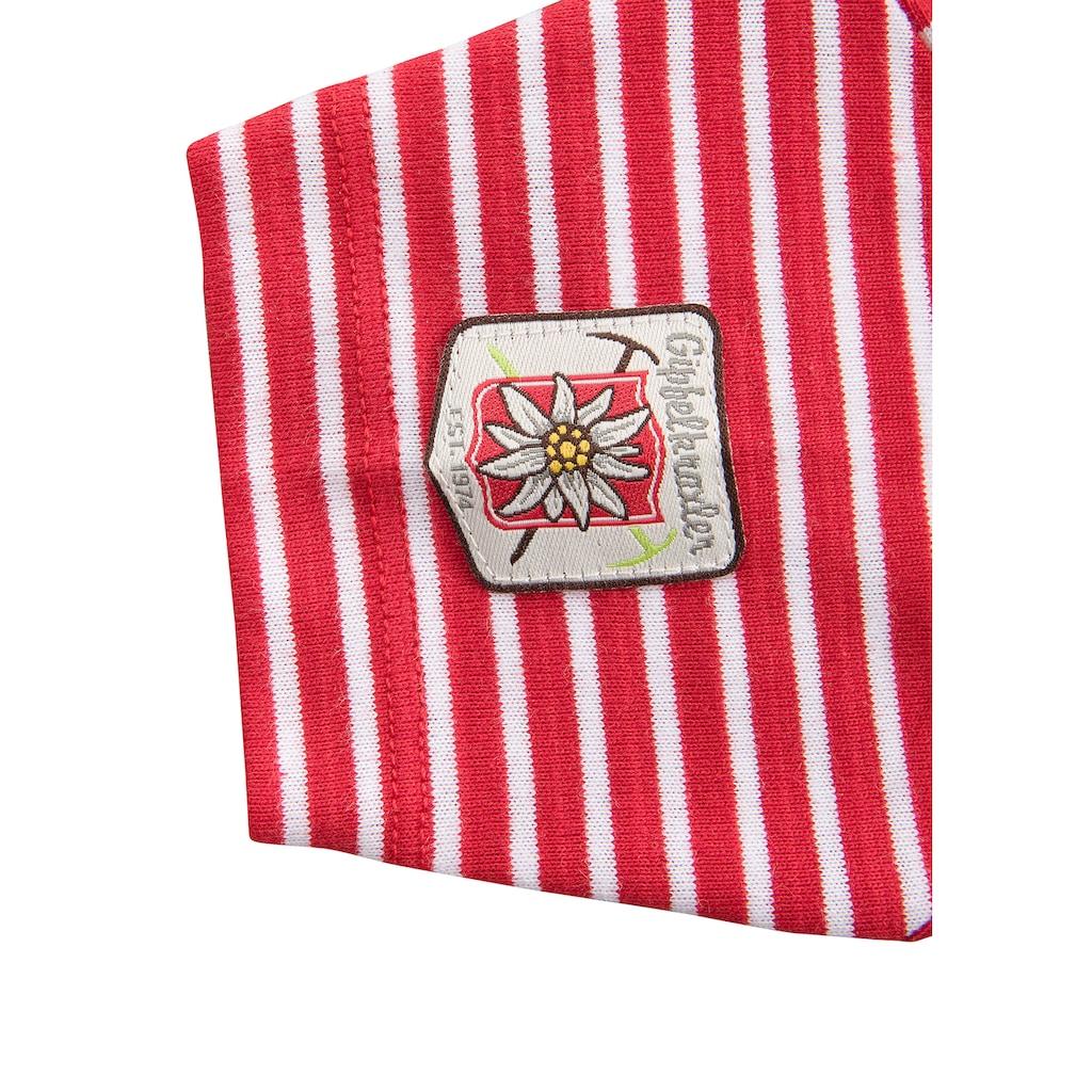 BONDI Trachtenshirt, mit Druckknöpfen an der Schulter