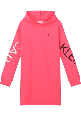 Calvin Klein Jeans Sweatkleid »HERO LOGO HOOD DRESS«, mit Logodruck auf den Ärmeln kaufen