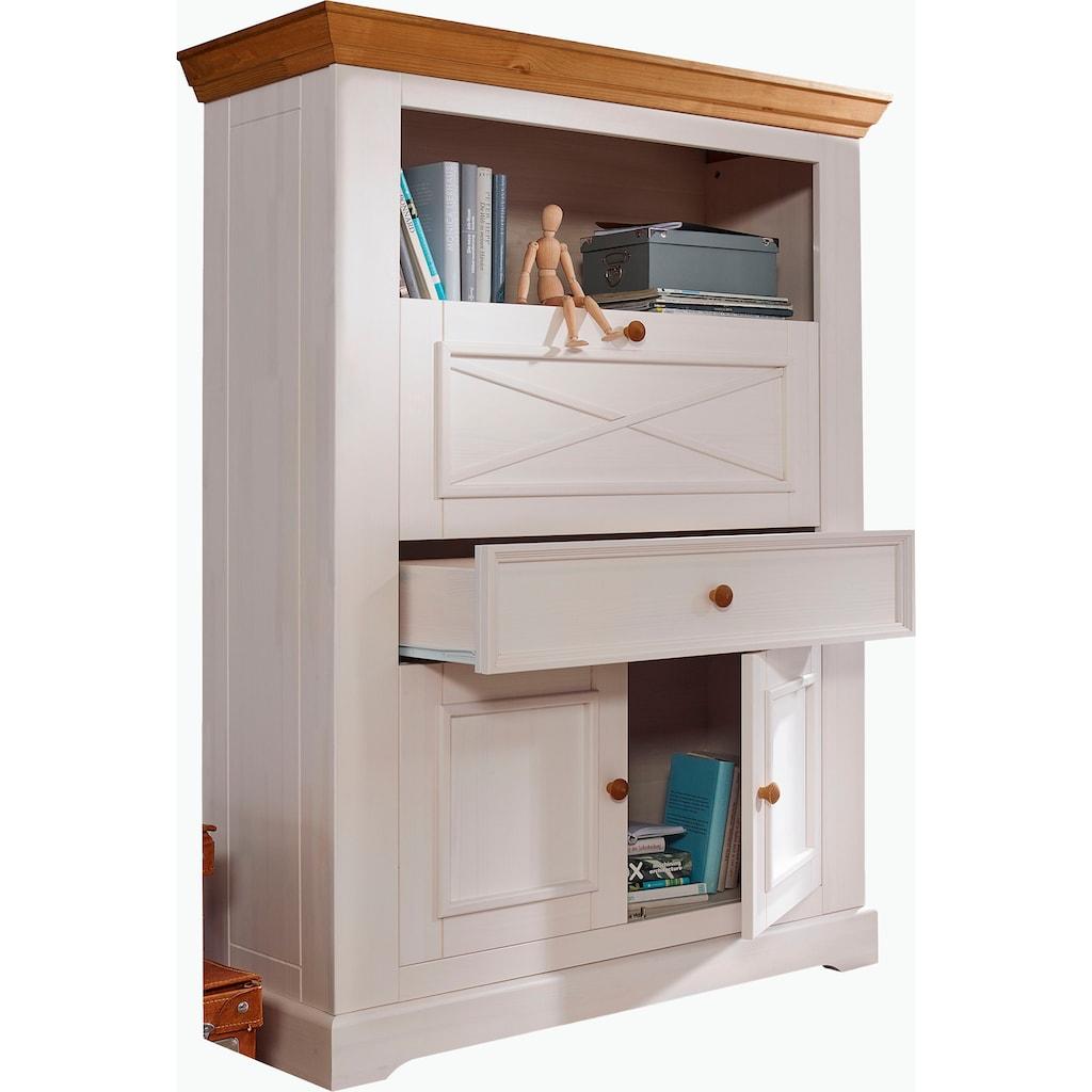 Premium collection by Home affaire Aktenschrank »Marissa«, aus Massivholz