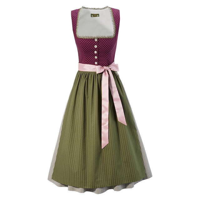 Love Nature Dirndl midi im traditionellem Mustermix