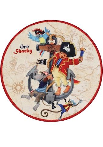 Capt`n Sharky Kinderteppich »SH-302«, rund, 2 mm Höhe, Spielteppich, Kinderzimmer kaufen