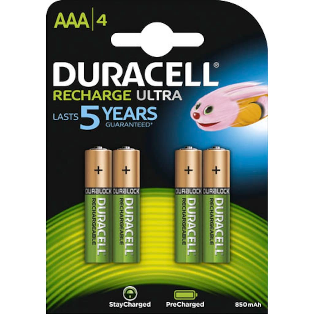 Duracell Batterie »Recharge Ultra Micro AAA HR03«, (Packung, 4 St.)