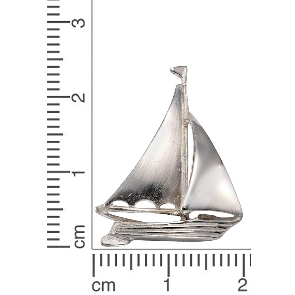 Firetti Kettenanhänger »Segelboot, glanzvoll, rhodiniert und massiv«, Made in Germany
