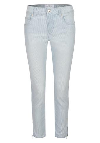 ANGELS Slim-fit-Jeans,Ornella Zip' mit Streifenmuster kaufen