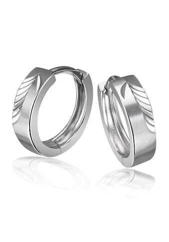 goldmaid Paar Creolen, 925/- Sterlingsilber diamantiert kaufen