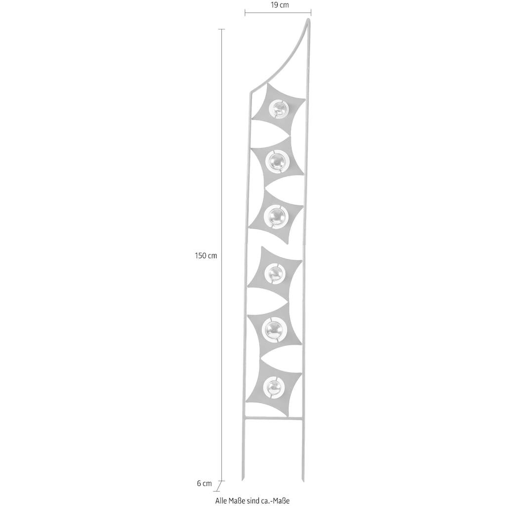 locker Deko-Windrad »Rusty Globes«, in Rostoptik, Materialmix, 150 cm hoch