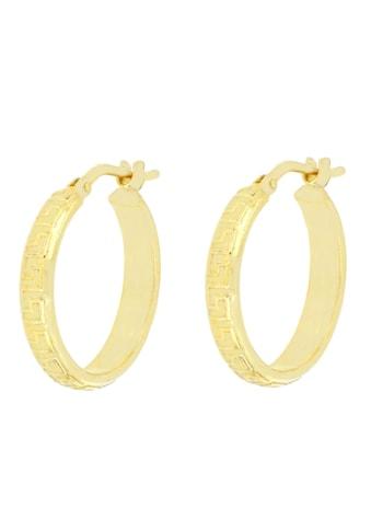Firetti Paar Creolen »Mit Mäander-Design, vergoldet, glänzend und matt« kaufen