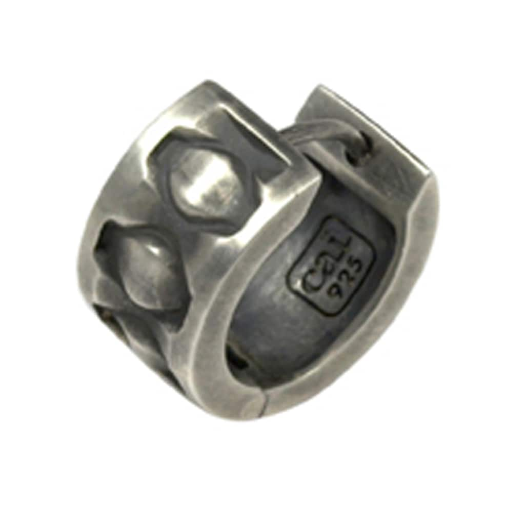 CAÏ Paar Creolen »925/-Sterling Silber rhodiniert matt oxidiert«, mit Geschenketui