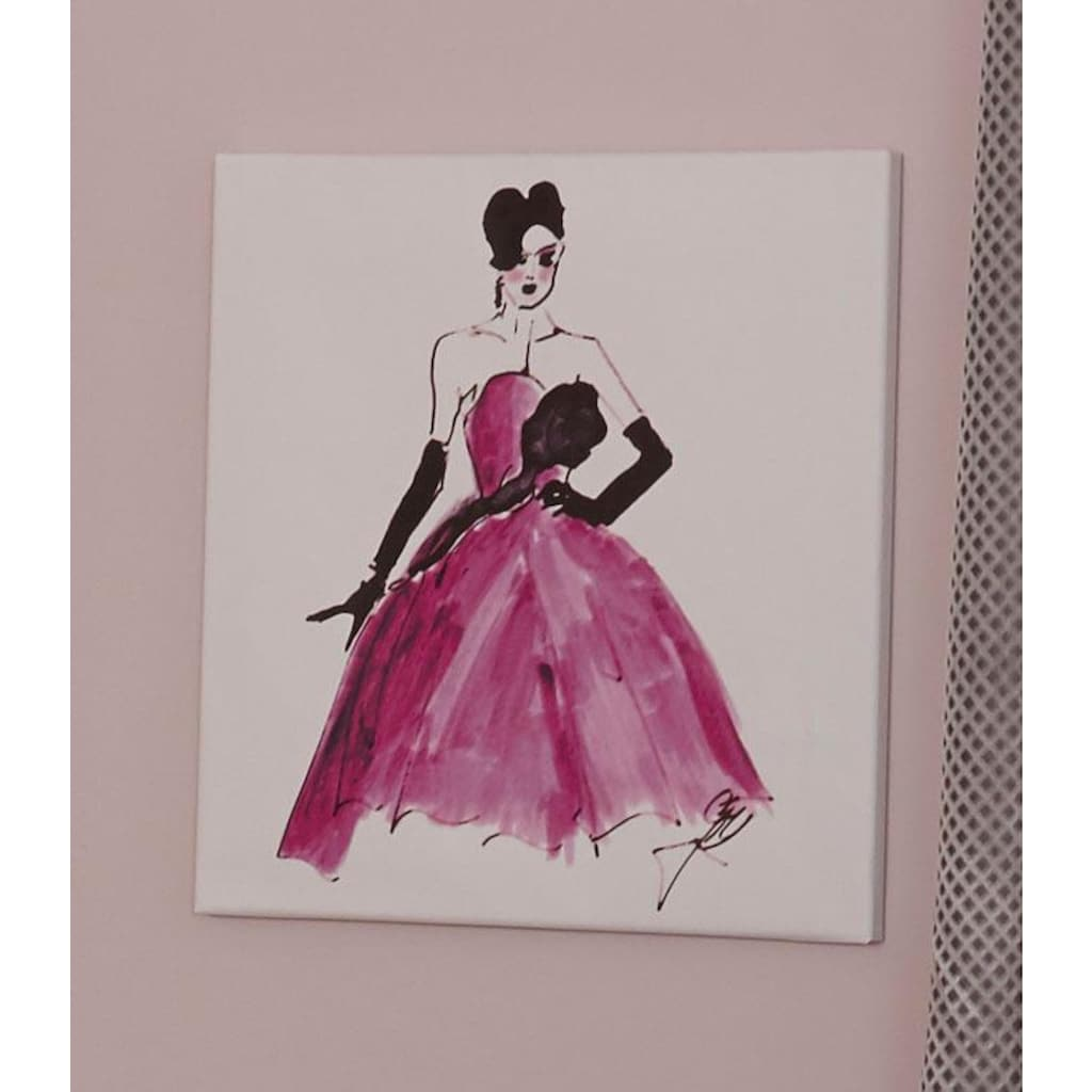 Guido Maria Kretschmer Home&Living Leinwandbild »Elegante Lady«, 50/50 cm, gerahmt, Keilrahmen
