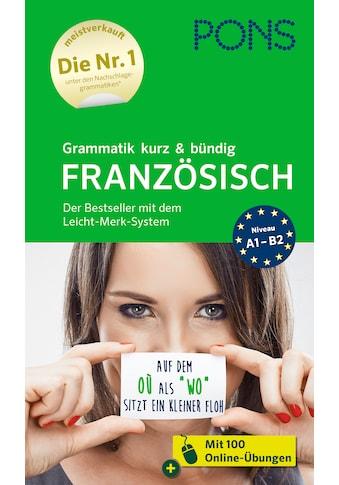 Buch »PONS Grammatik kurz & bündig Französisch / DIVERSE« kaufen